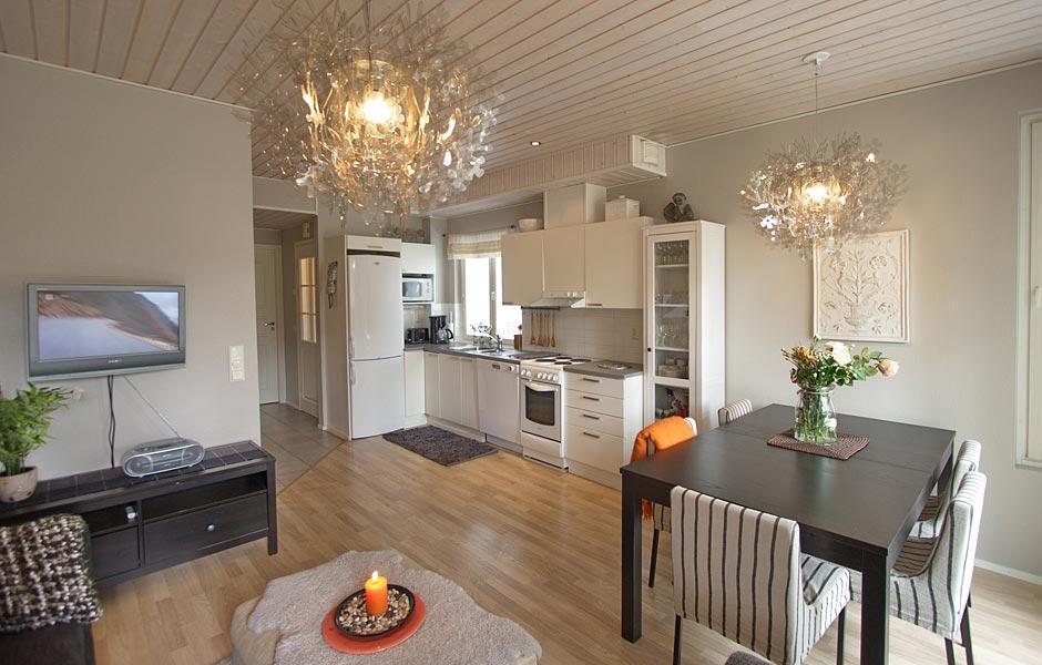 Levi Snowangel, Alpine Apartment B3 open-plan kitchen