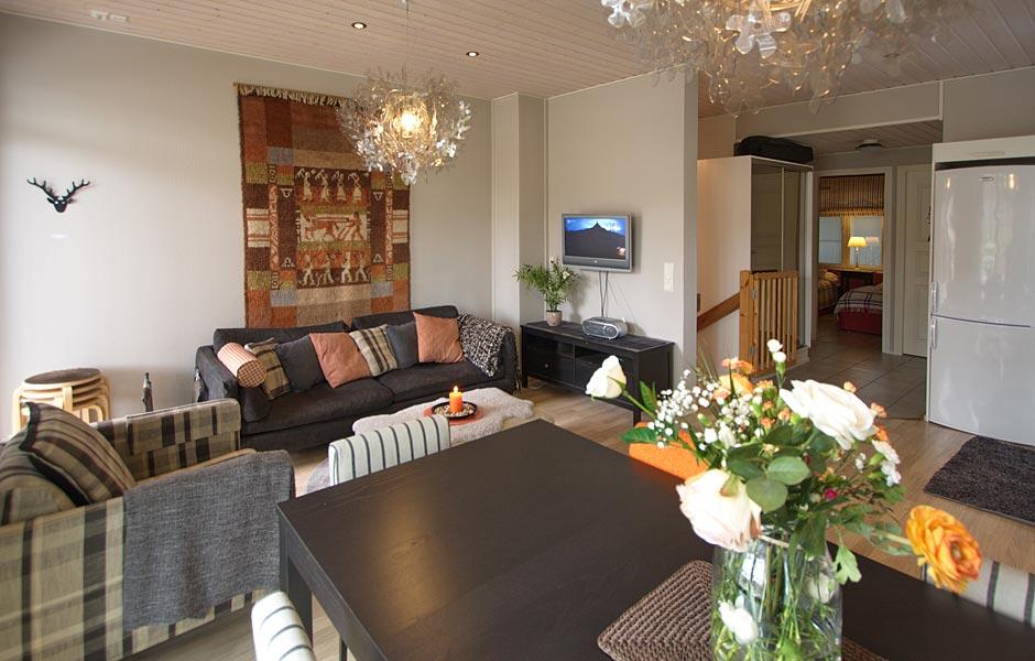 Levi Snowangel, Alpine Apartment B3 living room and dining table